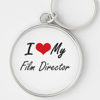 I love my Film Director Silver-Colored Round Key Ring