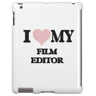 I love my Film Editor (Heart Made from Words) iPad Case