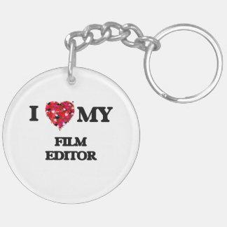 I love my Film Editor Double-Sided Round Acrylic Key Ring