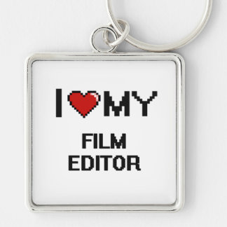 I love my Film Editor Silver-Colored Square Key Ring