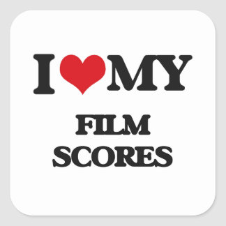 I Love My FILM SCORES Sticker