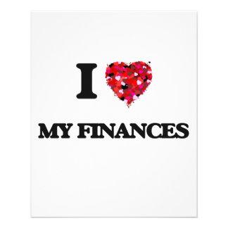 I Love My Finances 11.5 Cm X 14 Cm Flyer