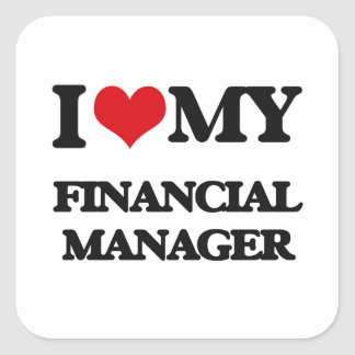 I love my Financial Manager Stickers