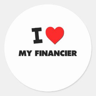 I love My Financier Round Stickers