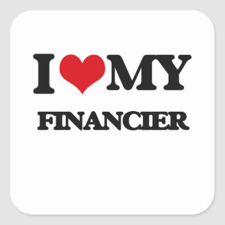 I love my Financier Sticker