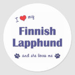 I Love My Finnish Lapphund (Female Dog) Classic Round Sticker