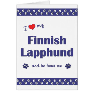 I Love My Finnish Lapphund (Male Dog) Note Card