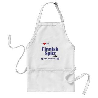 I Love My Finnish Spitz Mix (Female Dog) Standard Apron