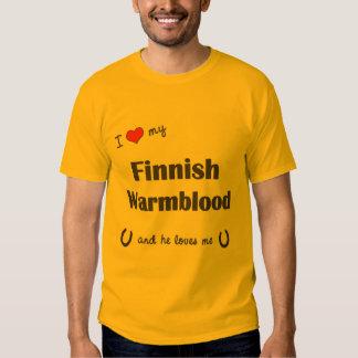 I Love My Finnish Warmblood (Male Horse) Tee Shirt