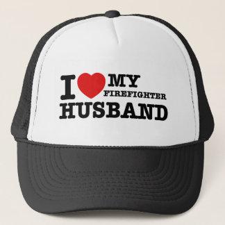 I love my firefighter husband trucker hat