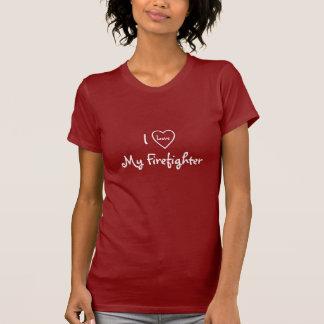I Love My Firefighter-T-Shirt-Heart Design T-Shirt