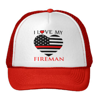 I Love My Fireman - Firefighter Cap