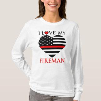 I Love My Fireman - Firefighter T-Shirt