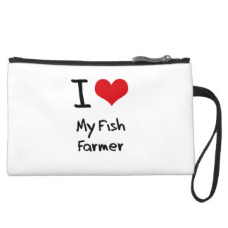 I Love My Fish Farmer Wristlet Clutch