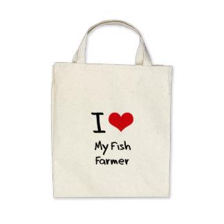 I Love My Fish Farmer Tote Bag