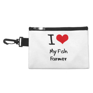 I Love My Fish Farmer Accessories Bags