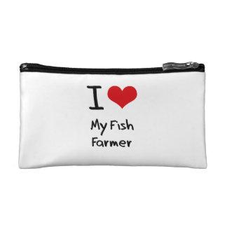 I Love My Fish Farmer Cosmetic Bag