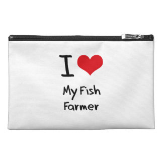 I Love My Fish Farmer Travel Accessories Bags
