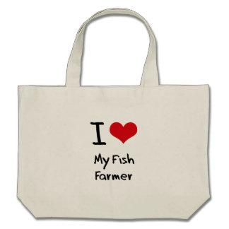 I Love My Fish Farmer Canvas Bag
