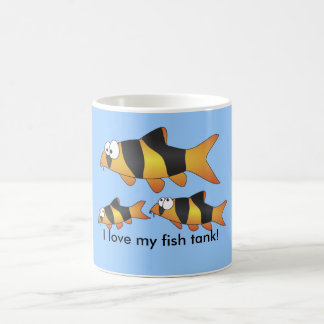 I love my fish tank funny clown loach MUG