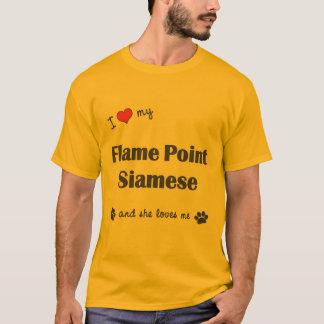 I Love My Flame Point Siamese (Female Cat) T-Shirt