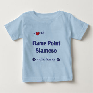 I Love My Flame Point Siamese (Male Cat) Baby T-Shirt