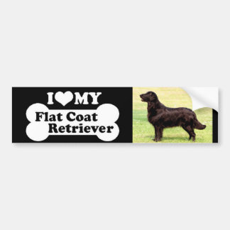 I love my Flat Coated Retriever Bumper Sticker
