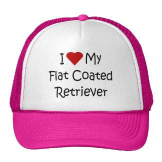 I Love My Flat Coated Retriever Dog Lover Gifts Mesh Hats