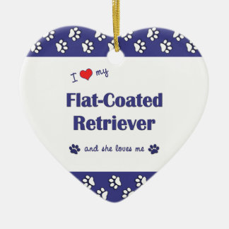 I Love My Flat-Coated Retriever (Female Dog) Christmas Ornament