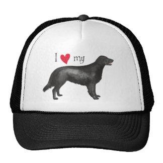 I Love my Flat-Coated Retriever Hats