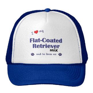 I Love My Flat-Coated Retriever Mix Male Dog Mesh Hats