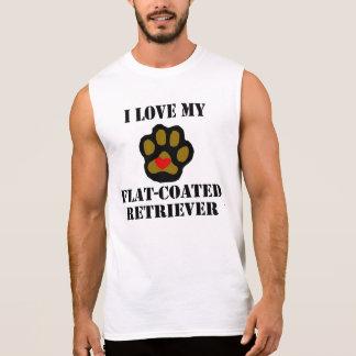 I Love My Flat-Coated Retriever Sleeveless Tees