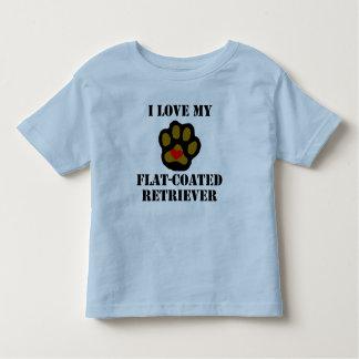 I Love My Flat-Coated Retriever Tee Shirts