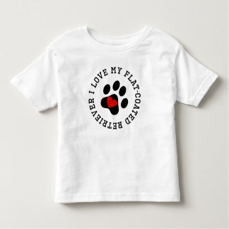 I Love My Flat-Coated Retriever T Shirt