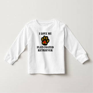I Love My Flat-Coated Retriever Tshirts
