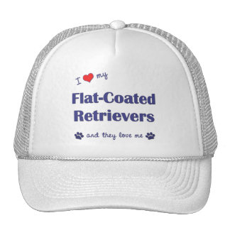 I Love My Flat-Coated Retrievers (Multiple Dogs) Trucker Hat