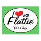 I Love My Flattie (It's a Dog) Postcard