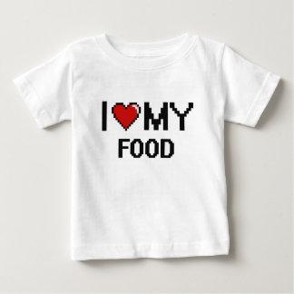 I Love My Food Digital design Tee Shirt