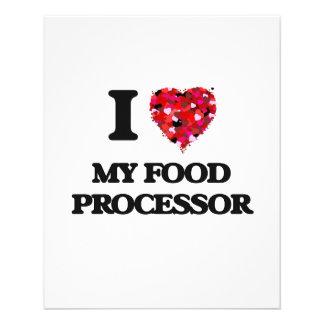 I Love My Food Processor 11.5 Cm X 14 Cm Flyer