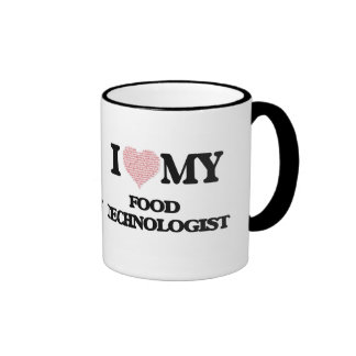 I love my Food Technologist (Heart Made from Words Ringer Mug