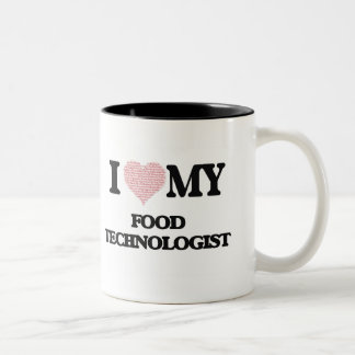 I love my Food Technologist (Heart Made from Words Two-Tone Mug