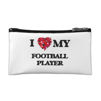 I love my Football Player Cosmetic Bags