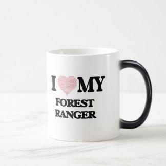 I love my Forest Ranger (Heart Made from Words) Morphing Mug