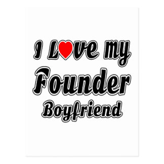 I Love My Founder Boyfriend Postcard