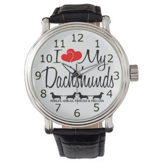 I Love My Four Dachshund Dogs Watch