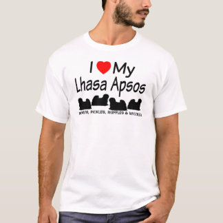 I Love My Four Lhasa Apso Dogs Shirt