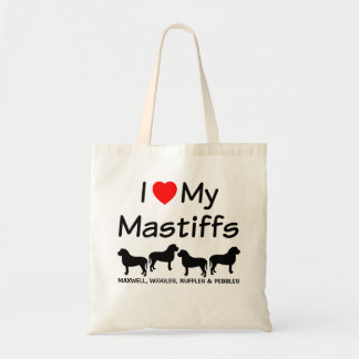 I Love My Four Mastiff Dogs Bag