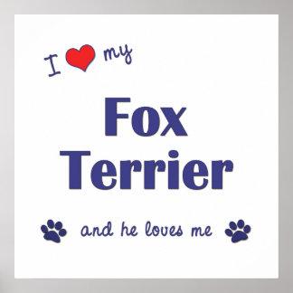 I Love My Fox Terrier Male Dog Print