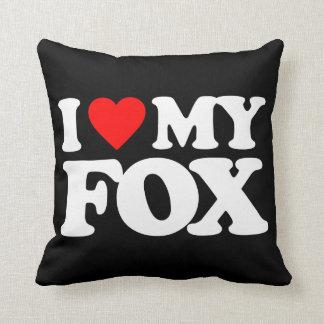 I LOVE MY FOX THROW PILLOW