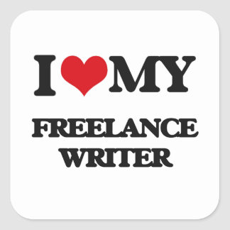 I love my Freelance Writer Sticker